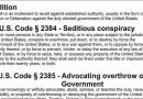 18 U.S. Code §2385.Advocating overthrow of Government
